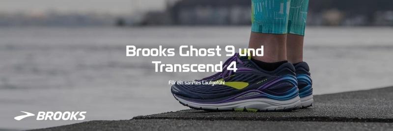 Brooks Ghost 9 und Transcend 4
