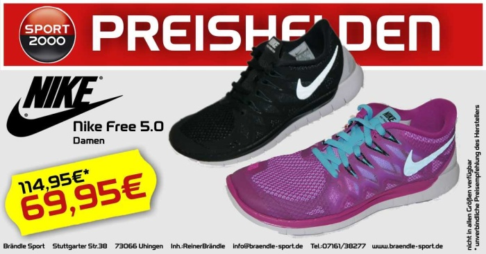 Nike Free 5.0 Damen
