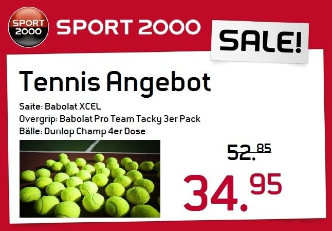 Tennisangebot