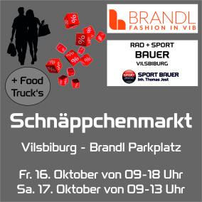 Schnäppchenmarkt und Mini Food Truck am 16.10. und 17.10.2020
