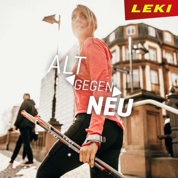 """Alt gegen Neu"" Leki Nordic Walking Aktion"