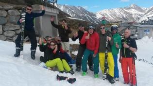 Das Team im Schnee