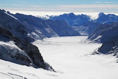 Gletschertrekking vom Jungfraujoch ins Lötschental