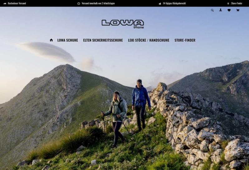 Lowa Onlineshop bei Bergsport Bordogna