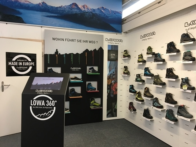Lowa 360° bei Bergsport Bordogna