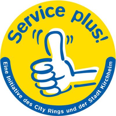Service plus Siegel der Stadt Kirchheim/Teck