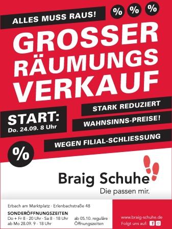 Großer Räumungsverkauf in Erbach