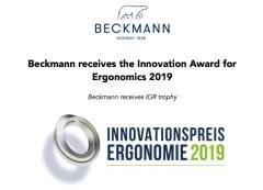 Beckmann erhält Auszeichnung
