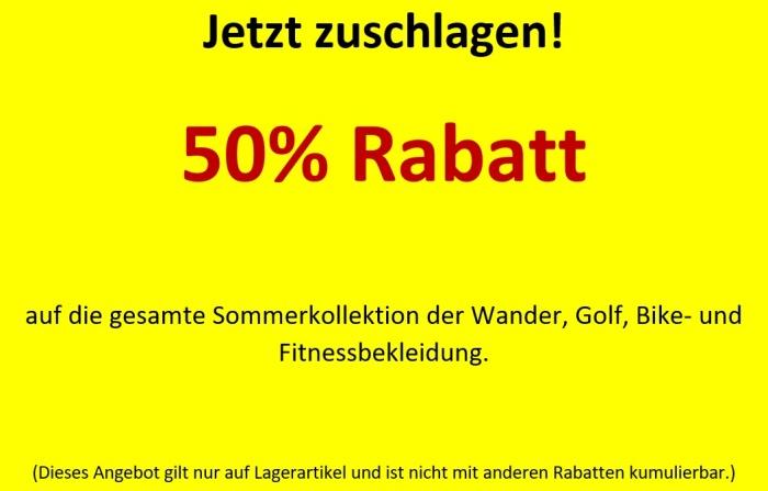 50% Rabatt Textil