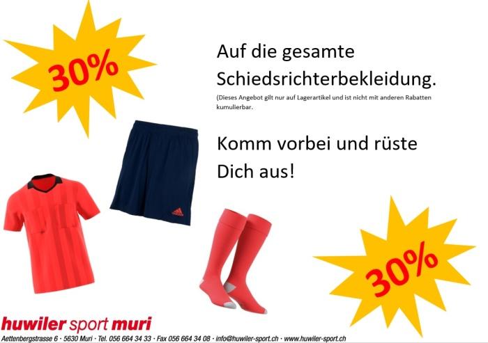 30% Rabatt Schiedsrichterbekleidung