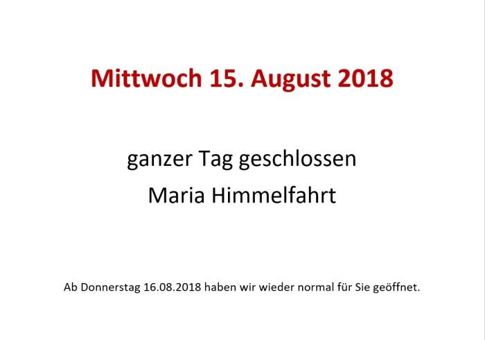 Maria Himmelfahrt 2018