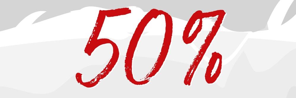 Sale 50 Prozent grau