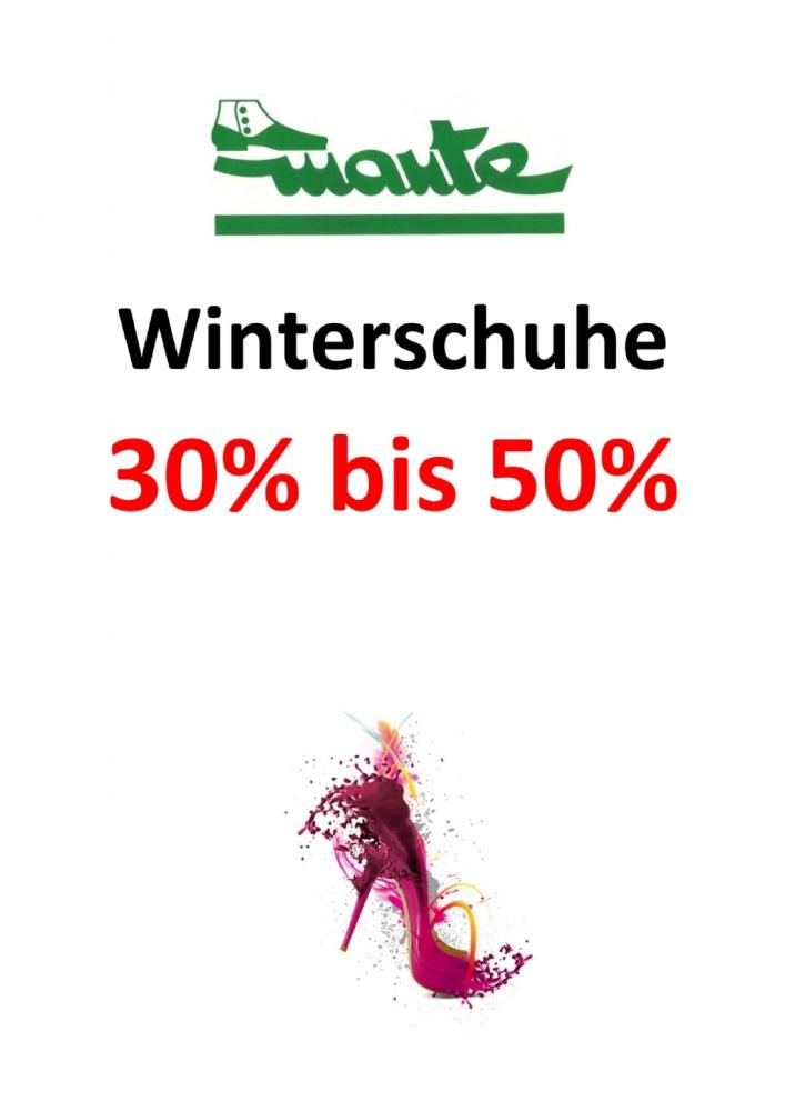Winterschuhe 30-50%