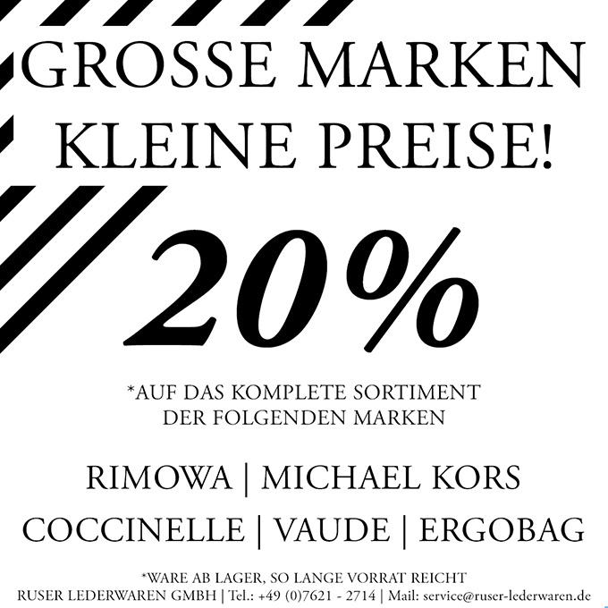 2020 GROSSE MARKEN KLEINE PREISE