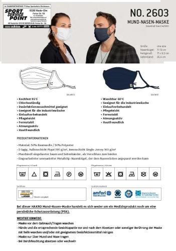 Mund-Nasen Masken
