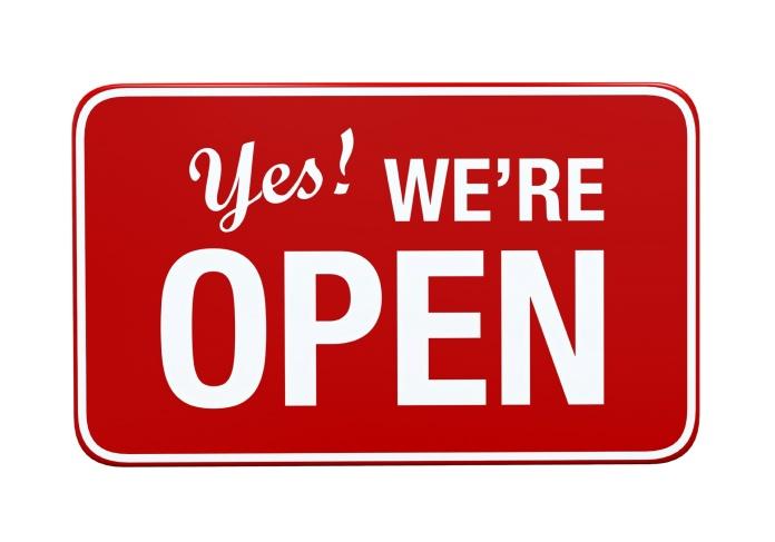 We'r open