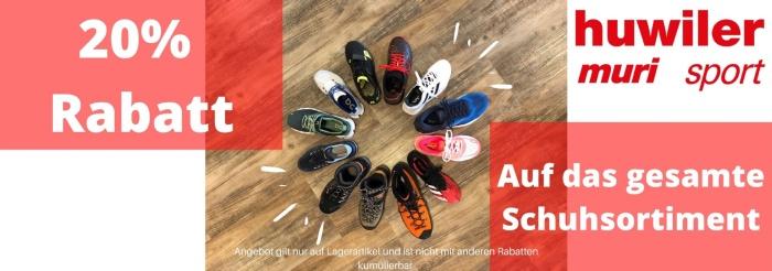 20 % Rabatt auf Schuhsortiment