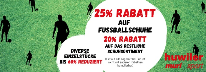 40% Rabatt Fussballschuhe