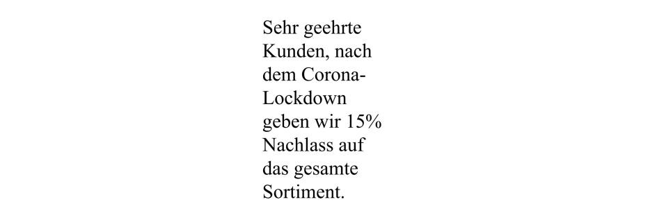 15% Nachlass