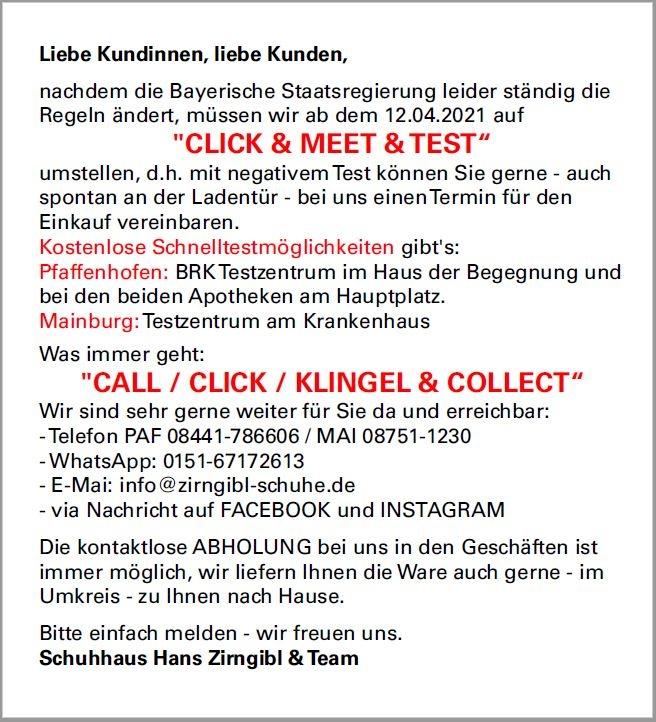 Click&Meet&Test PopUp