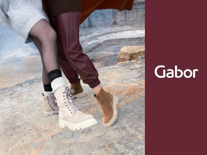 Gabor HW 21 Kampagne Damen Boots beige, Boots braun