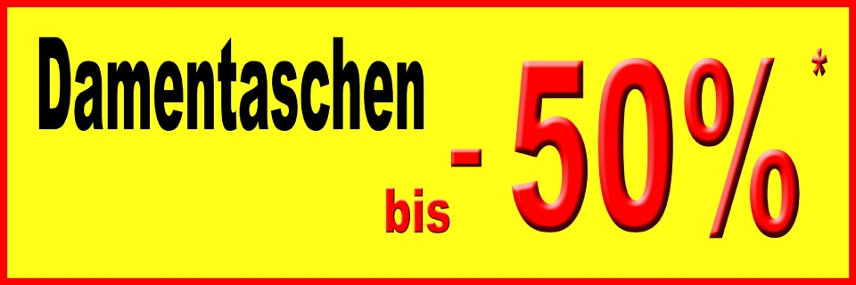 DAMENTASCHEN  - 50%