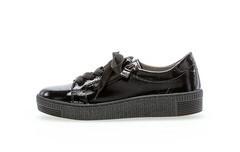 Gabormodischer Sneaker in schwarz lack Leder