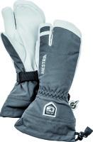 HestraArmy Leather Heli Ski 3 finger grey