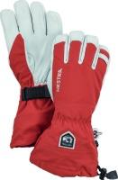 HestraArmy Leather Heli Ski 5 finger brick-red