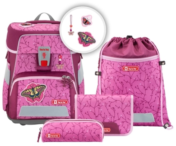 Step by StepSpace Ranzen Set Natural Butterfly