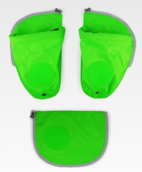 ErgobagSicherheitsset & Seitentaschen grün
