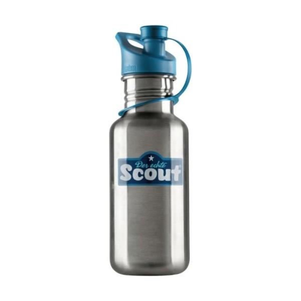 ScoutEdelstahl-Trinkflasche Blau