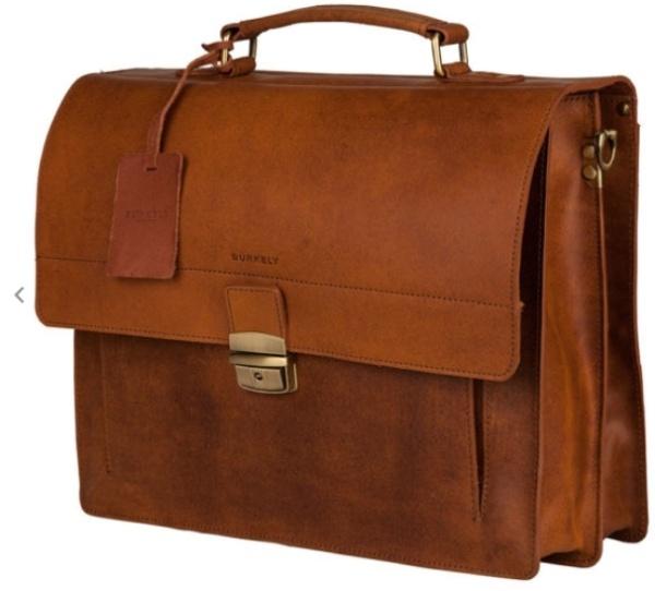BurkelyFundamentals Vintage Briefcase cognac