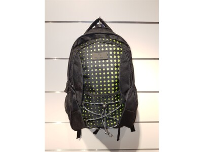 RS 3 Rucksack lime green dots