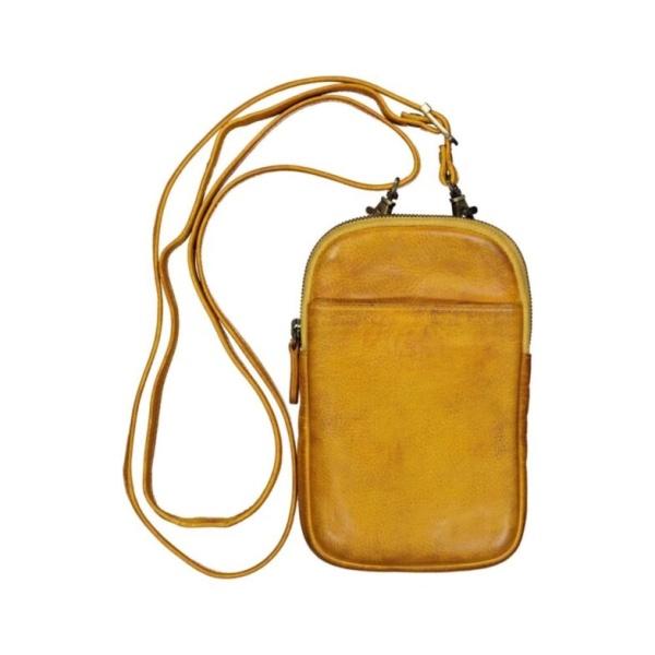 Handy Ledertasche gelb