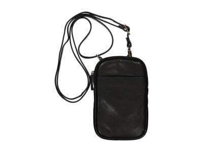 Handy Ledertasche schwarz