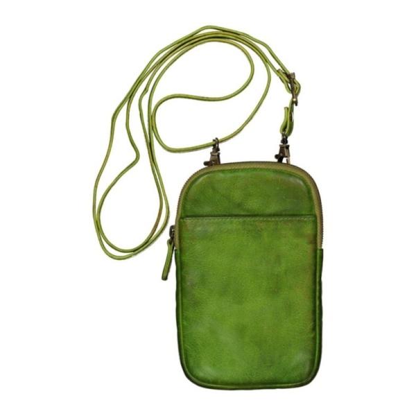 Handy Ledertasche grün