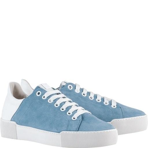 HöglSneaker, himmelblau Velour