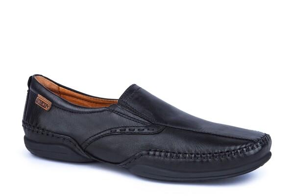 PikolinosHerren Slipper, schwarz Leder