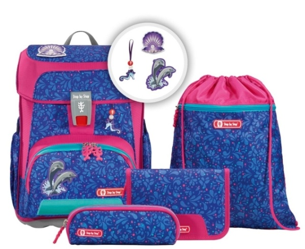 Step by StepCloud Ranzen Set Happy Dolphins