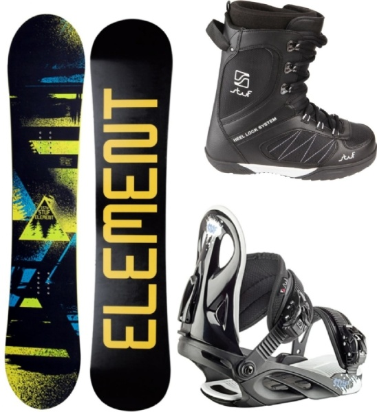 V3Tec Snowboard Set Element