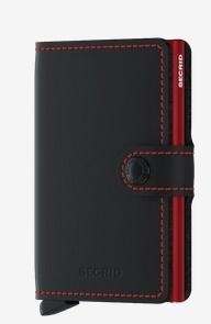 SecridMatte Black & Red Kartenetui