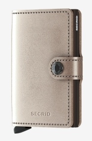 SecridMiniwallet Metallic Champagne Brown