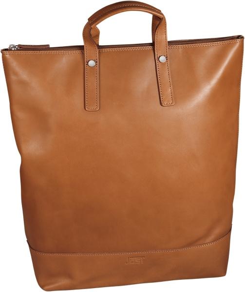 JostX-Change Rucksack/Tasche Leder groß Cognac