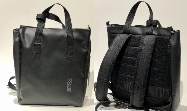 BreePunch Rucksack/Kurzgriff-Shopper Black