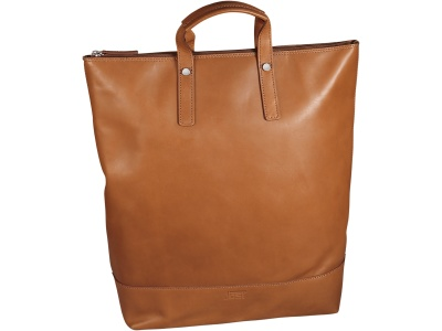 X-Change Rucksack/Tasche Leder groß Cognac