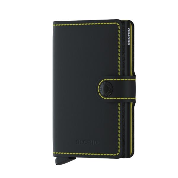Secrid Miniwallet matte black yellow