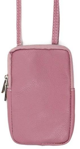 Handy Ledertasche alt rosa