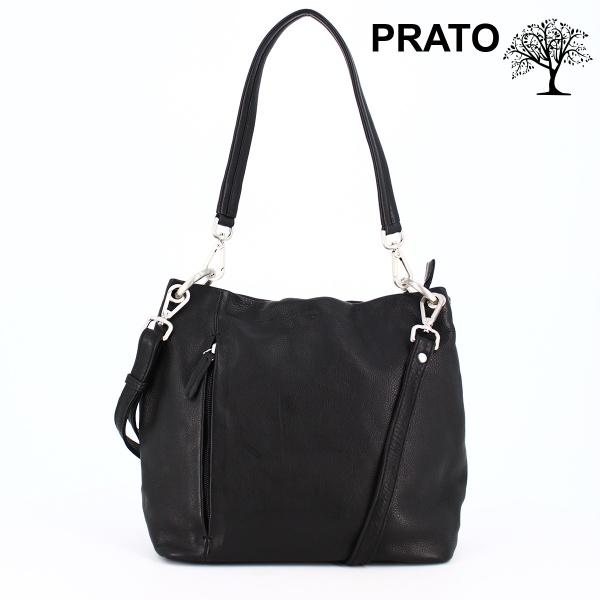 FrankyPrato Lederhandtasche schwarz