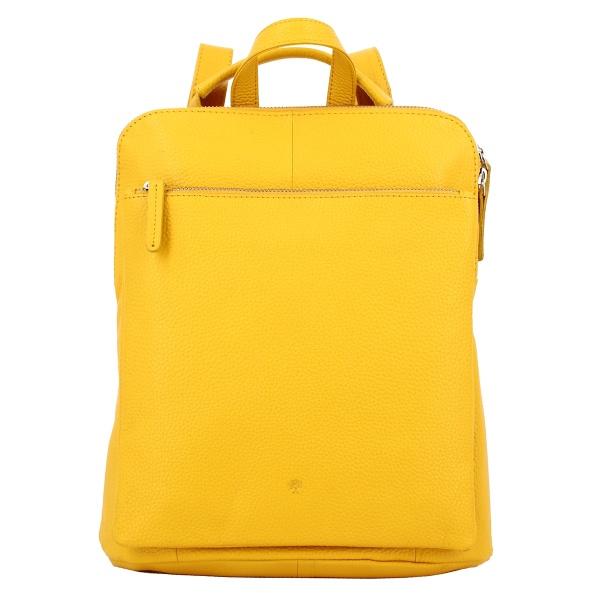 FrankyPrato Lederrucksack AL 12 gelb